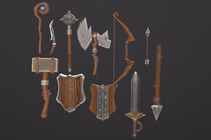 Stylized RPG Starter Weapons