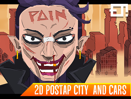 2D Postap City and Cars