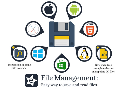 File Management: Easy way to save and read files.