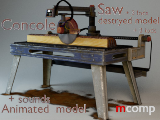 Console Sawmill (Animated)