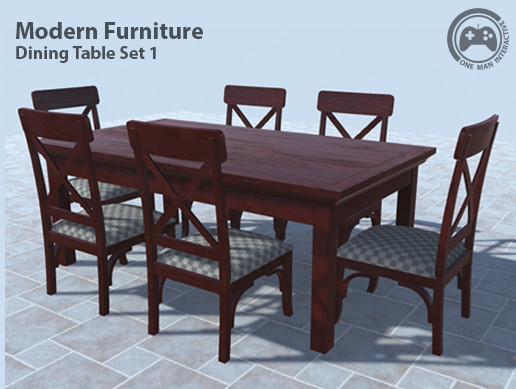 Marvelous Modern Furniture Dining Table Set 1 Asset Store Download Free Architecture Designs Sospemadebymaigaardcom