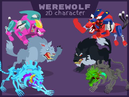 Werewolf 2D Character