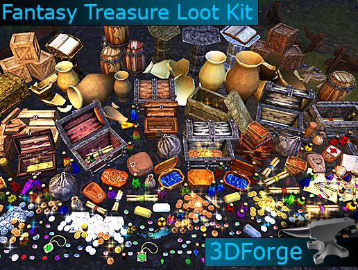 Fantasy Treasure Loot Kit