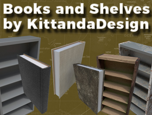 Study Room - Books and Shelves