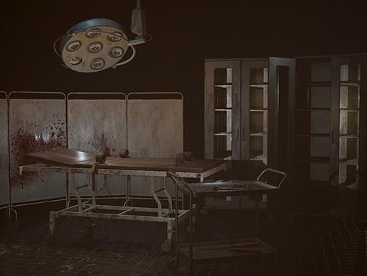 Horror hospital props