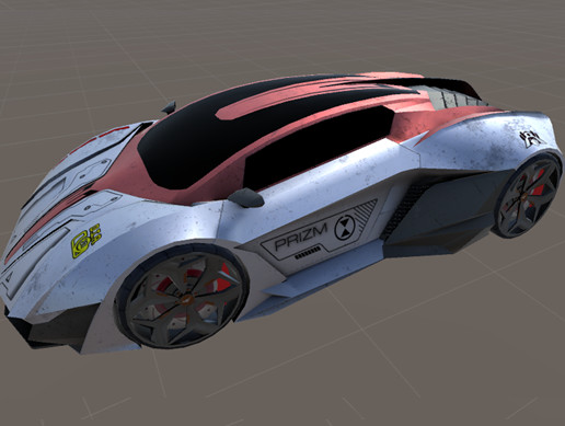 Race Game Car Lamborghini Resonare Low Poly Asset Store