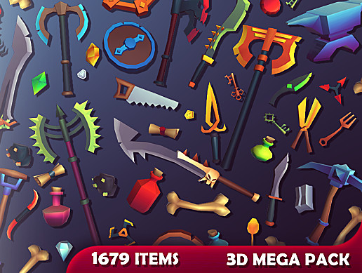 3D Items - Mega Pack