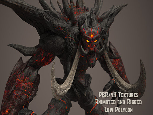 Fire Demon - Animated & PBR
