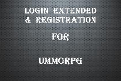 Login Extended & Registration for uMMORPG