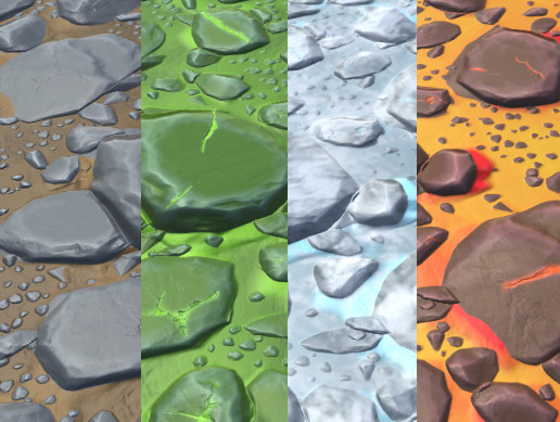 Stylized Rock Materials
