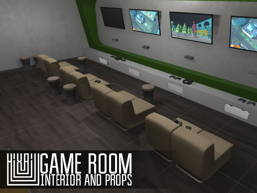 Game room - interior and props
