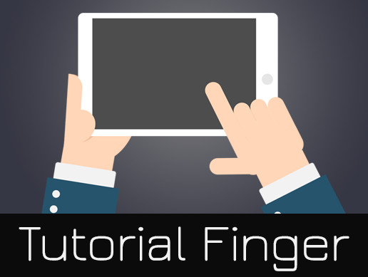 Tutorial Hand Finger Touch Screen Gui Animation
