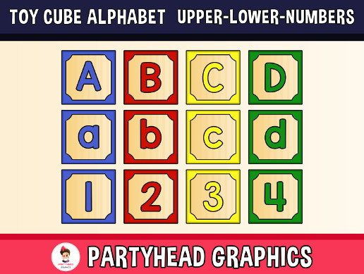 The Toy Cube Alphabet - Upper, Lower and Numbers