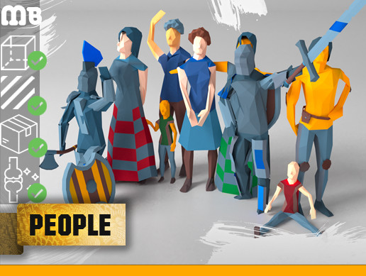MB: low-poly people