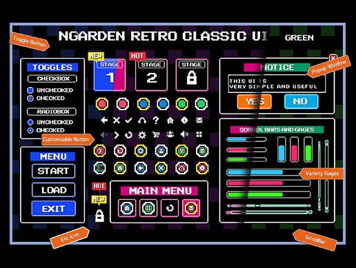 nGarden Retro Classic UI Pack