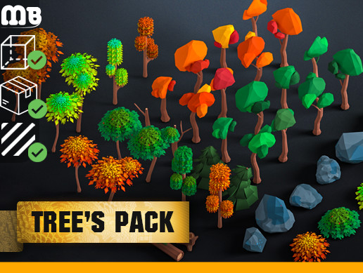 MB: low-poly pack - trees