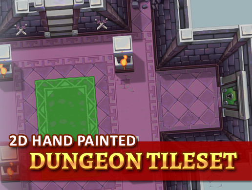 2D Hand Painted - Dungeon Tileset