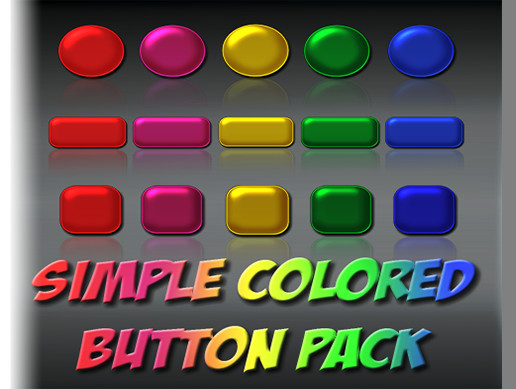 Simple Colored Button Pack