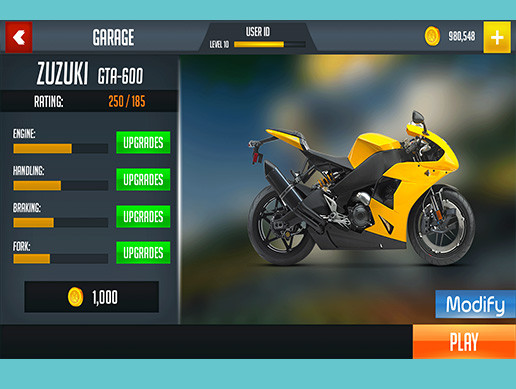 Bike Racing Graphics CxS (GUI Skin 8)