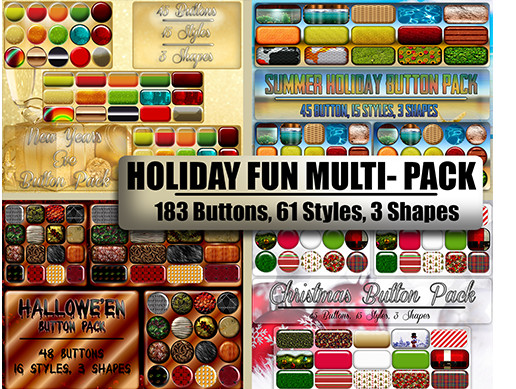Holiday Fun Button Multi- Pack