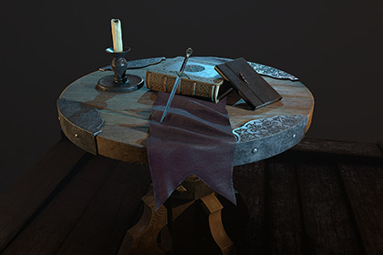 Fantasy Table (PBR, 4K)