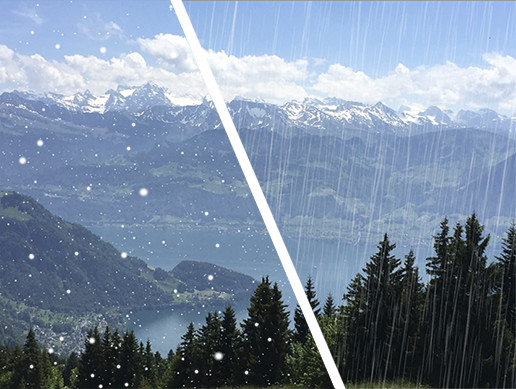 Real Snow and Rain Particle Effect