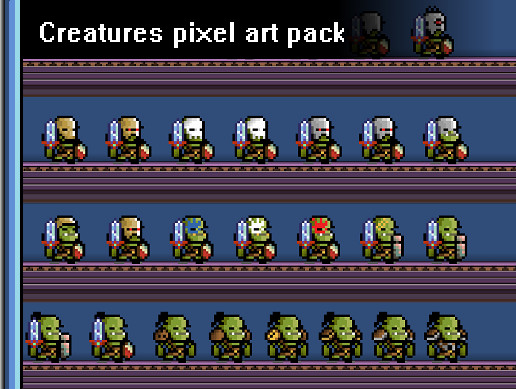 Creatures Pixel Art Pack