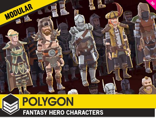 POLYGON - Modular Fantasy Hero Characters