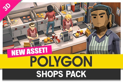 ⭐POLYGON Shops Pack - Low Poly 3D Art by Synty