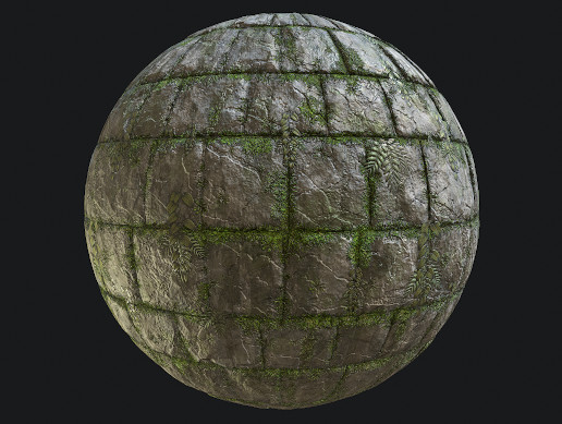 Jungle Stone Wall PBR