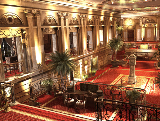 Ornate Hotel Style Interior Pack