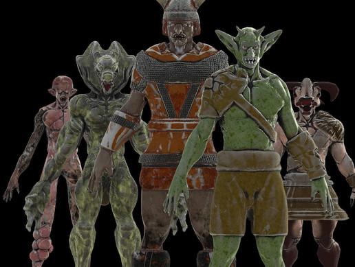 Humanoid Creature warrior (Pack)