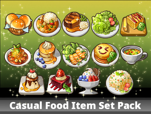 Casual Food Item Set Pack
