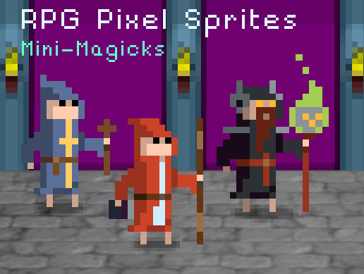 RPG Pixel Sprites - Mini Magicks - Asset Store