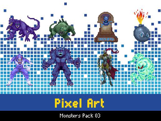 Pixel Monsters Pack 03