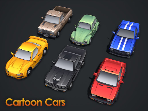 Cartoon Cars - Mobile Pack