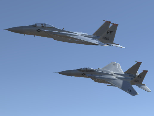 Jet Fighter Aircraft F-15 Eagle