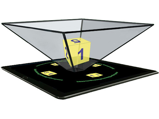 3D Hologram Pyramid Projections