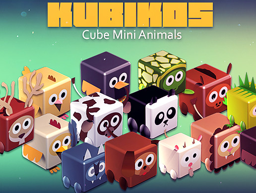 KUBIKOS - 22 Animated Cube Mini Animals