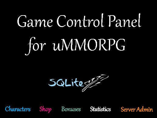 Game Control Panel for uMMORPG