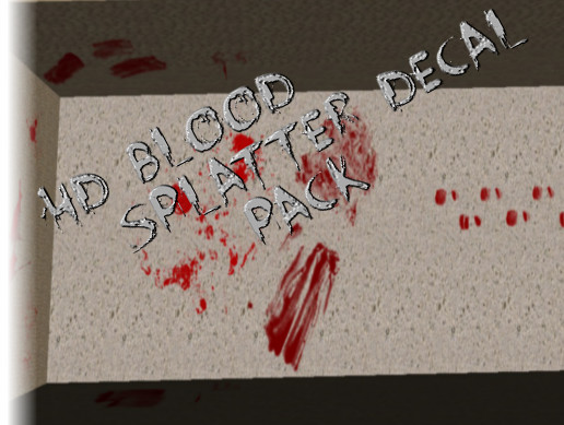 HD Blood Splatter Decals - Asset Store