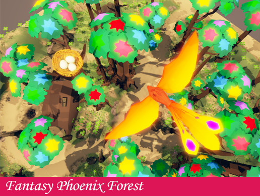Fantasy Phoenix Forest
