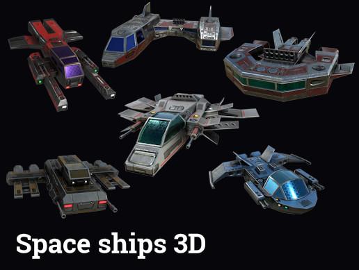 Spaceships 3d set.
