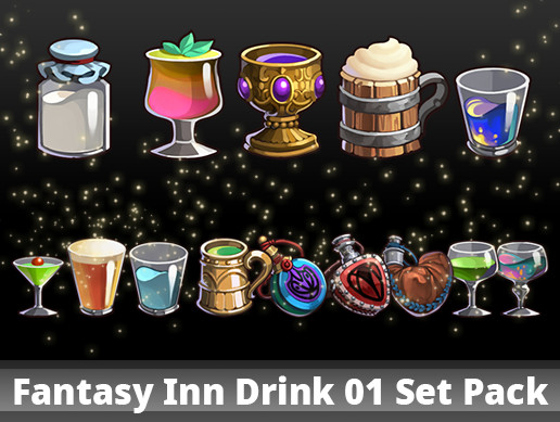 Fantasy Inn Drink 01 Set Pack