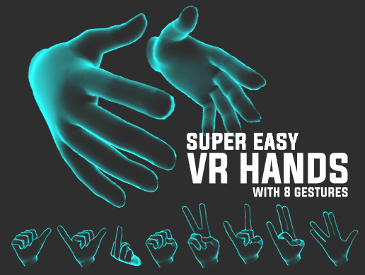 VR Hands Animated with Ghost Shader