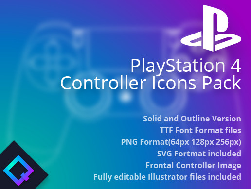 PS4 Controller Icons Pack