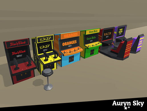 Arcade Machines Pack 02 - Lowpoly Pack