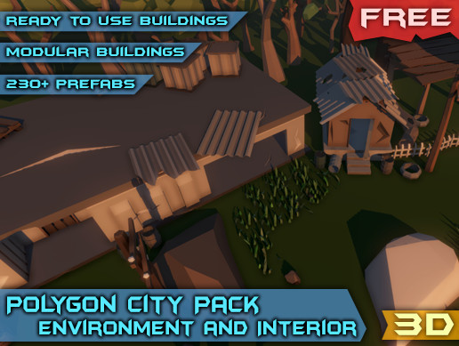 Polygon City Pack - Environment and Interior [Free]