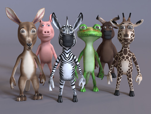 Toon Humanoid Animals Vol 2 PBR