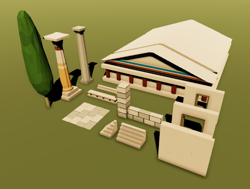 Greek Low Poly Pack - Lite